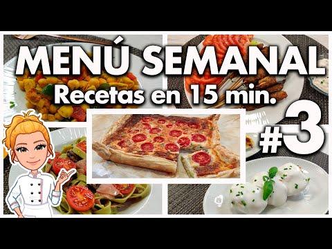 ? MENÚ SEMANAL Económico y Súper RÁPIDO nº. 3 ? Recetas Fáciles y Deliciosas ? Meal Prep Semanal