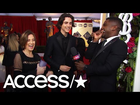 Timothée Chalamet Shares His Love For Cardi B At The 2018 SAG Awards | Access