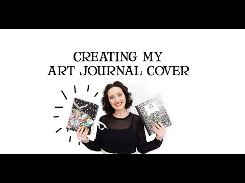 creating my art journal cover