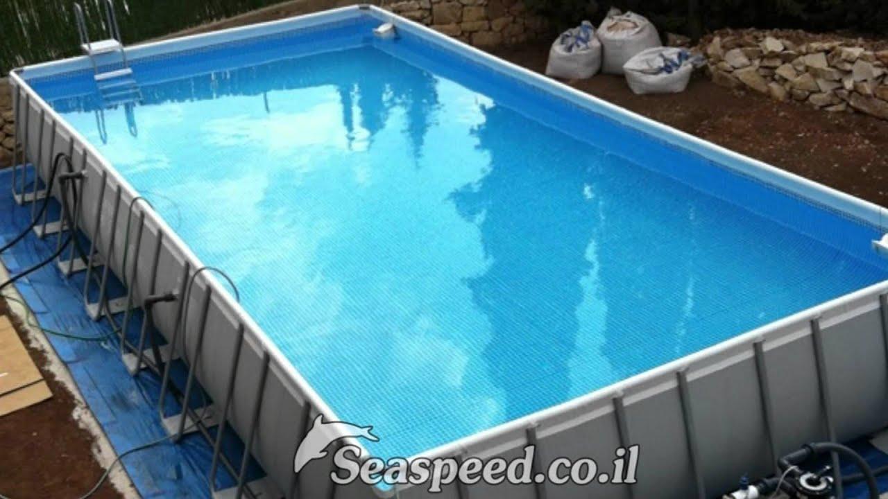 הקמת בריכת שחייה דגם Intex Ultra 975x488x132 בענתות