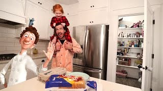 Cooking with Adley who controls Dad - Disney Ratatouille