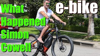 What happened to Simon Cowell and his electric bike in Malibu