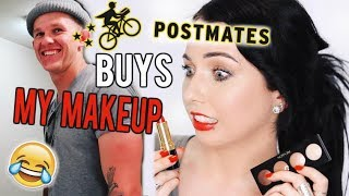 POSTMATES DELIVERY GUY BUYS MY MAKEUP! Stranger Spends My Money