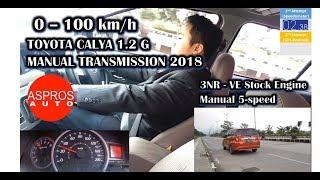 0 - 100 km/h : TOYOTA CALYA G 1.2 M/T 2018