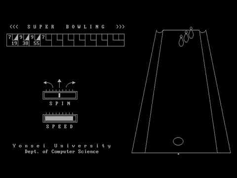 Super Bowling (a.k.a. 슈퍼 볼링) (Park JH) (MS-DOS) [1989] [PC Longplay]