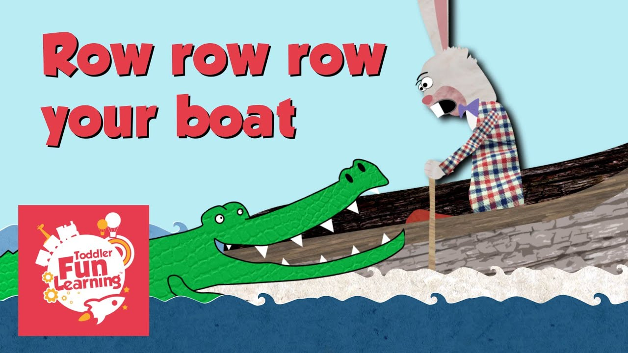 row row row your boat nursery rhyme for toddlers