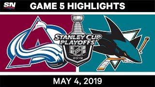 NHL Highlights   Avalanche vs. Sharks, Game 5 – May 4, 2019