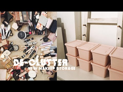 CLOTHING & MAKEUP DE-CLUTTER | NEW MAKEUP STORAGE | MsRosieBea
