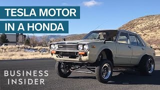 What Happens When You Put A Tesla Motor In An Old Honda?