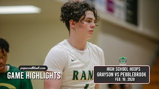 GRAYSON uses 4th quarter run to put away Pebblebrook.  The top team in Georgia is battle-tested.