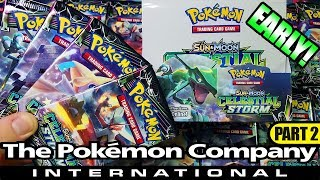 EARLY RELEASE CELESTIAL STORM BOOSTER BOX OPENING FROM THE POKEMON COMPANY INTERNATIONAL! PART 2