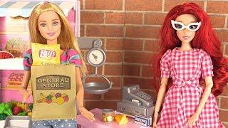 Barbie Supermarché Histoire Poupées Raiponce Elsa Marinette