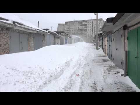 Снег Мариуполь гаражи Авиатор