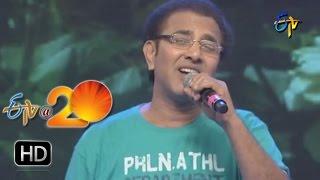 Vandemataram Srinivas Performance  - Nee Padammeeda PuttuMachanai Song  in  Khammam ETV @ 20