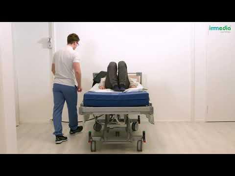 Positioning higher up in bed using OneManSling and SatinSheetSystem