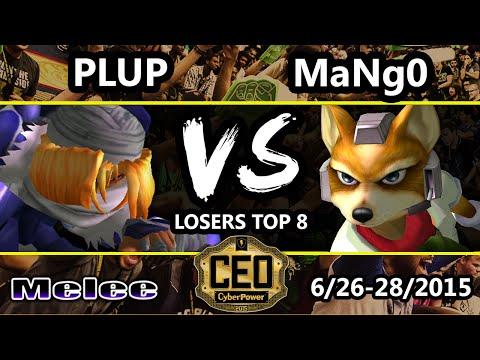 CEO 2015 - Plup (Sheik) Vs. C9 Mango (Fox) SSBM Losers Top 8 - Smash Melee