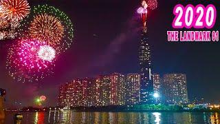 Bắn pháo hoa tuyệt đẹp giao thừa 2020 | The Landmark 81 | Tòa nhà cao nhất Việt Nam