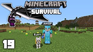 Minecraft 1.14 Survival Let's Play - Defeating The Ender Dragon | Ep 19