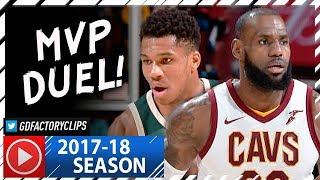 LeBron James vs Giannis Antetokounmpo MVP Duel Highlights (2017.11.07) Cavs vs Bucks - MUST SEE!