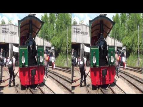 """3D: Locomotive-tramway à vapeur FP 4 """"Rimini"""" du Musée Blonay-Chamby (remastered) (yt3d)"""