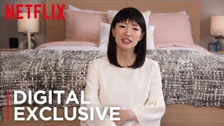 How To Fold Fitted Sheets | Tidying Up with Marie Kondo | Netflix