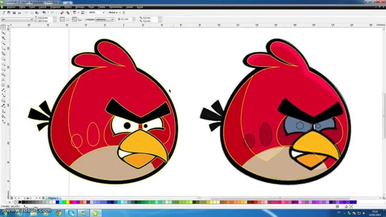 Vetorizando Angry Birds.