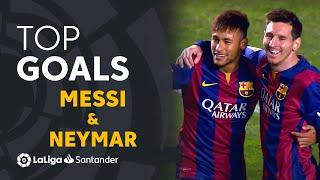 TOP 25 GOALS Messi & Neymar LaLiga Santander