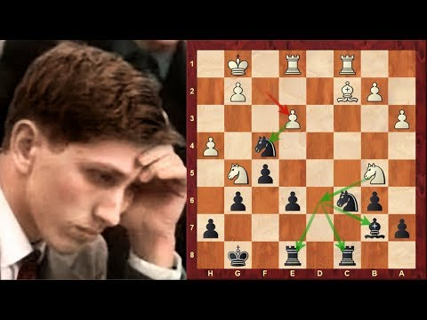 Amazing Chess Game: Samuel Reshevsky vs Bobby Fischer :(1961) Los Angeles: Queen's Gambit Declined