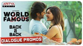 World Famous Lover Back To Back Dialogue Promos- Vijay Dev..