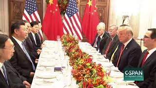 President Trump Chinese President Xi Jingping meeting G20 Summit Argentina, Dec 1 2018