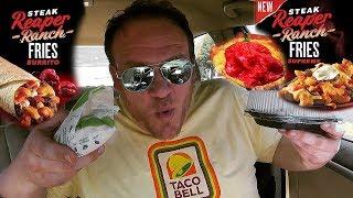 Taco Bell ☆STEAK REAPER RANCH FRIES & REAPER BURRITO☆ Food Review!!!