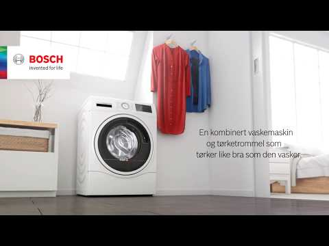 Bosch kombinert vaskemaskin og tørketrommel, perfekt for deg med lite bad