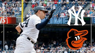 Baltimore Orioles @ New York Yankees | Game Highlights | 8/14/19