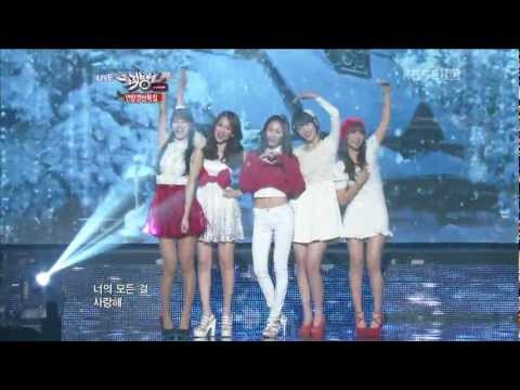 【1080P】Krystal,Sulli & Suzy(miss A)& Jiyoung(KARA)& Sohyun- Winter Songs (21 Dec,2012)