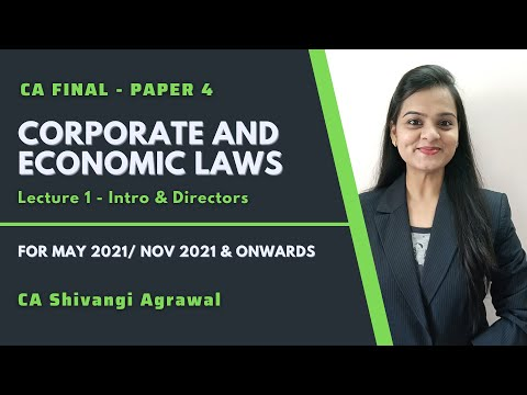 video Corporate & Economic Laws By CA Shivangi Agrawal CA Final Full Courses