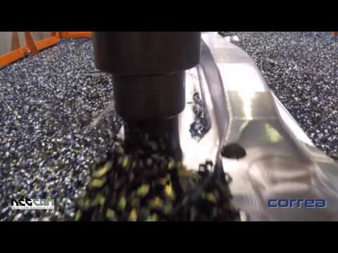 Forging Mould Machining - NCG CAM software on a Correa Fox