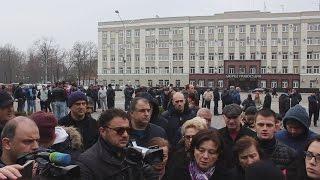 Владикавказ: акция протеста в защиту сотрудников полиции