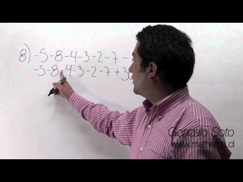 Conjunto Z: Sustracción de números con distinto signo II