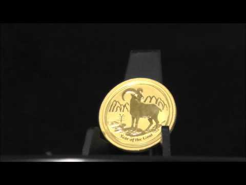 Australian 1/4 Ounce 2015 Gold Lunar Goat Coin 999.9