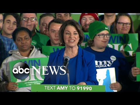 Amy Klobuchar speaks to supporters after New Hampshire primary