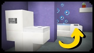 ✔ Minecraft: How to make a Working Bathroom
