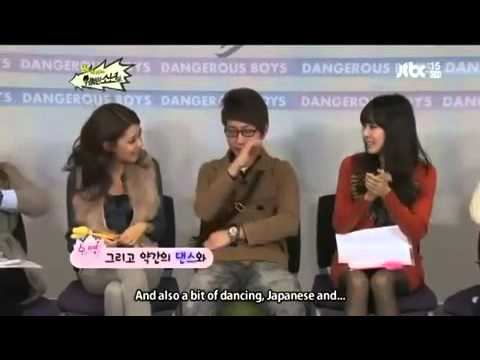 SNSD in panic mode when Tiffany wasn't around + sooyoung english funny 2012