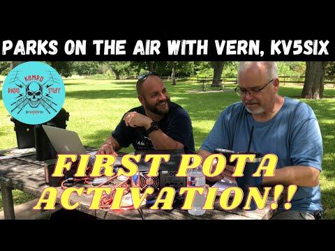Your POTA Elmer hard at work | Vern, KV5SIX first activation.