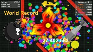 Fisp.io 27,402,563 WORLD RECORD A BOMB Fidget Spinner