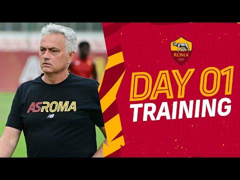 VIDEO - Mourinho, pallone e maxischermo: è iniziata la stagione della Roma