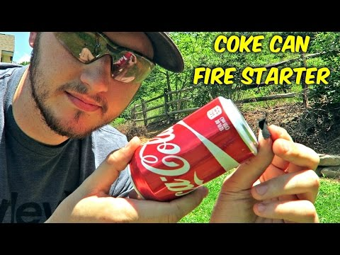 Can You Start a Fire with Coke Can?