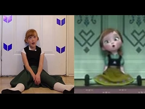 Do You Want To Build a Snowman? - Frozen Cover Little Anna In Real Life