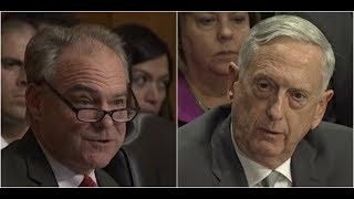 Secretary James Mad Dog Mattis has HEATED Debate with Tim Kaine on Authorization of Military Force