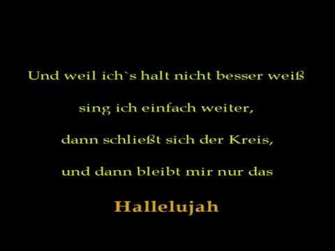 hoffnungsloses hallelujah - *broken hallelujah* auf Deutsch!