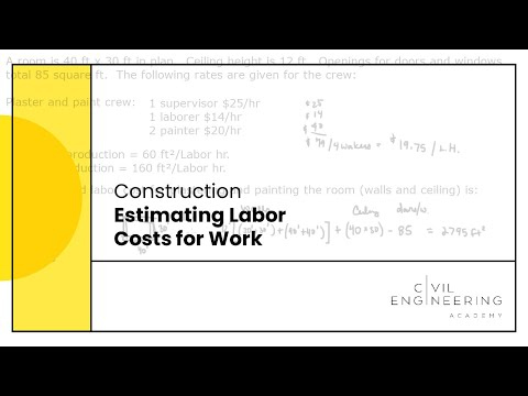 Construction-Estimating Labor Costs for Work